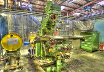 Old Milling Machine HDR