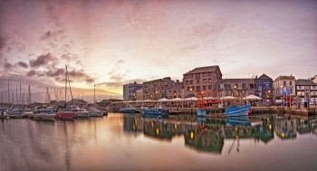 Barbican Sunrise Panorama 29-12-11